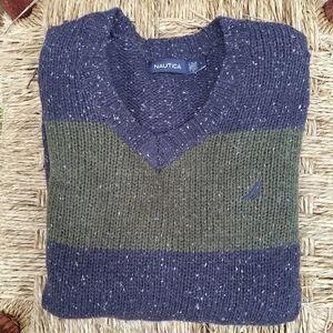 Nautica V Neck Knit Sweater